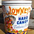 Vintage 1950/60's Lowney's Hard Candy (5 lb.) Tin Can BEAUTIFUL